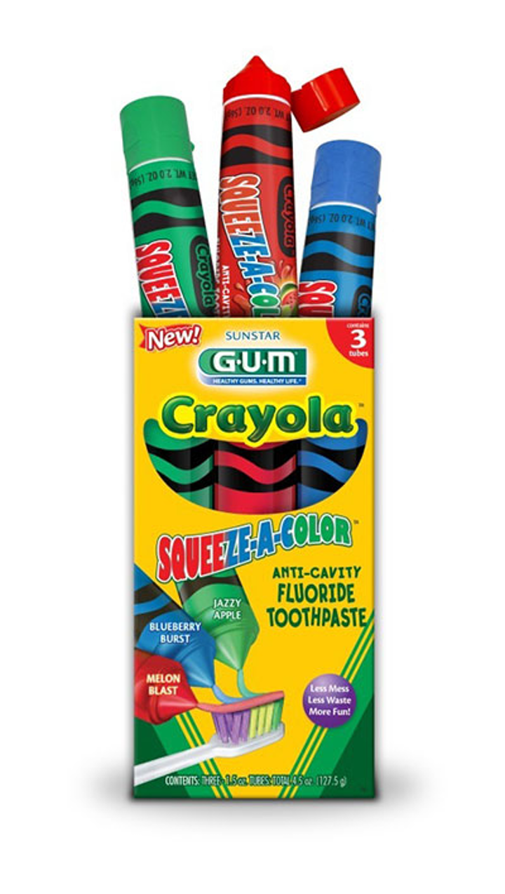Gum Crayola Squeeze A Color Toothpaste
