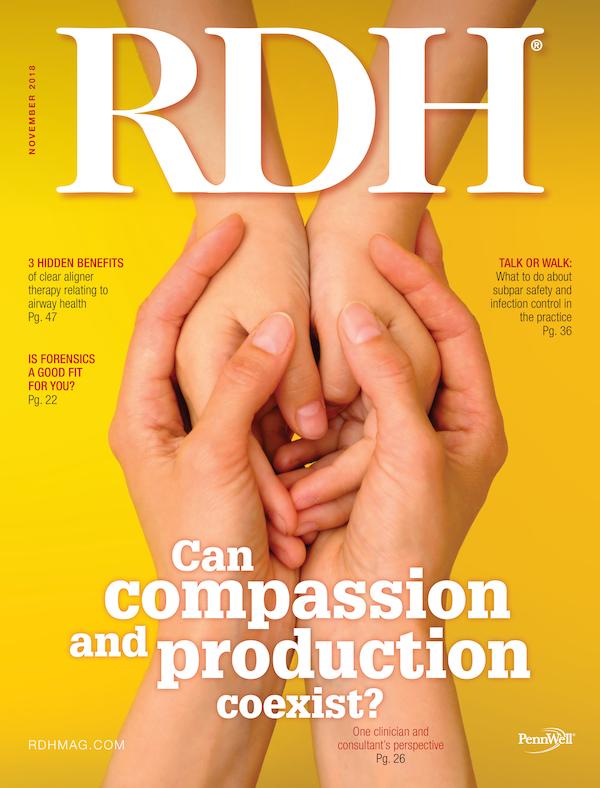 Registered Dental Hygenist (RDH) Magazine Volume 38, Issue 11